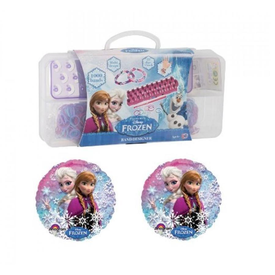 アナと雪の女王 おもちゃ フィギュア Disney Frozen Birthday Gift Set - 1000 Piece Loom Band Set + 2 Foil Balloons 輸入品