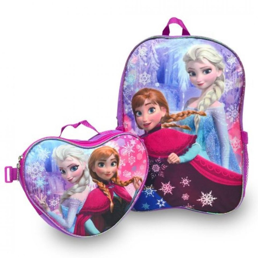 アナと雪の女王 おもちゃ フィギュア Frozen Backpack with Matching Lunchbox Set Featuring Anna and Elsa 輸入品