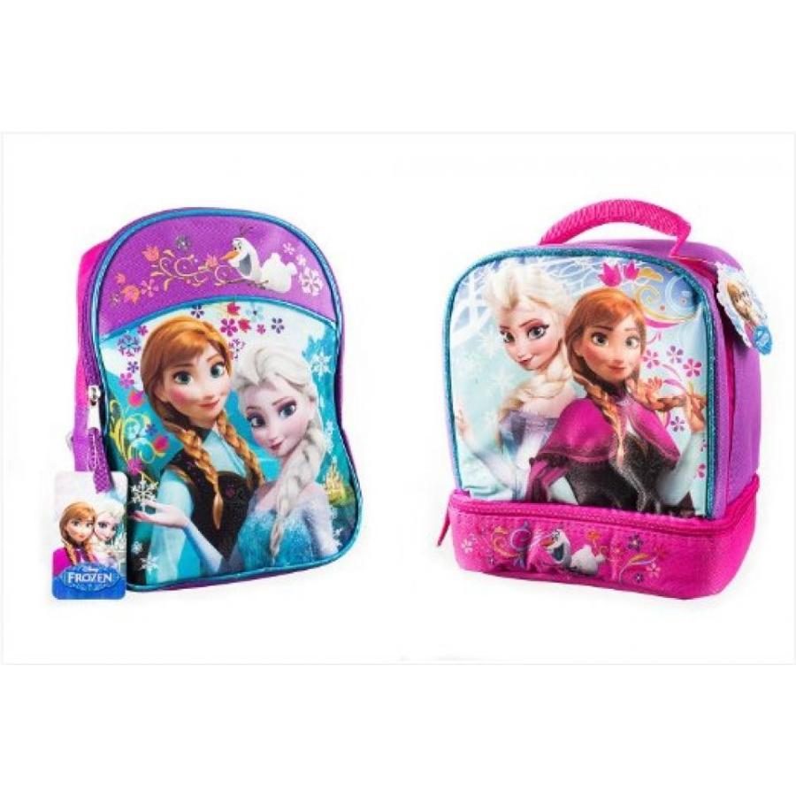 アナと雪の女王 おもちゃ フィギュア Disney Frozen Backpack Princess Elsa & Anna 16'' with a Lunch Bag 9.5'' Set 輸入品