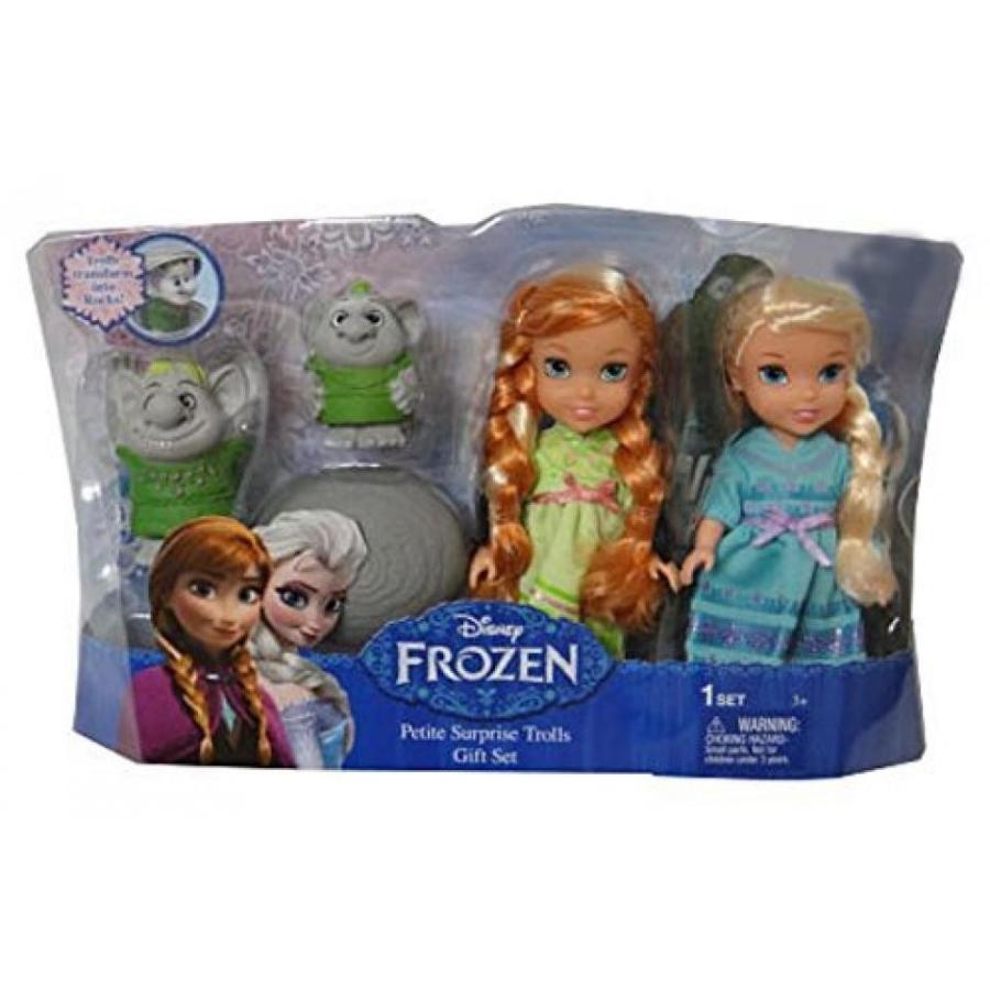 アナと雪の女王 おもちゃ フィギュア Disney Frozen Petite Surprise Trolls Gift Set Anna Elsa Doll Exclusive 輸入品
