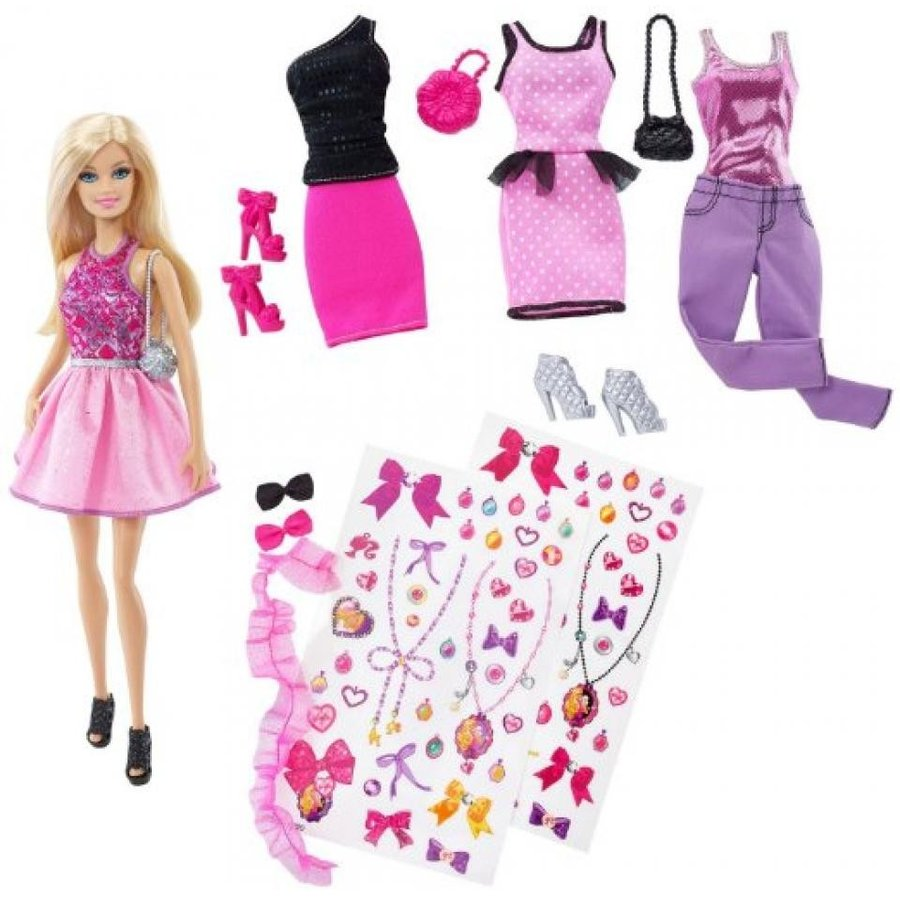 バービー人形 おもちゃ 着せ替え Exclusive Barbie Decorate Fashion Doll and Accessories 輸入品
