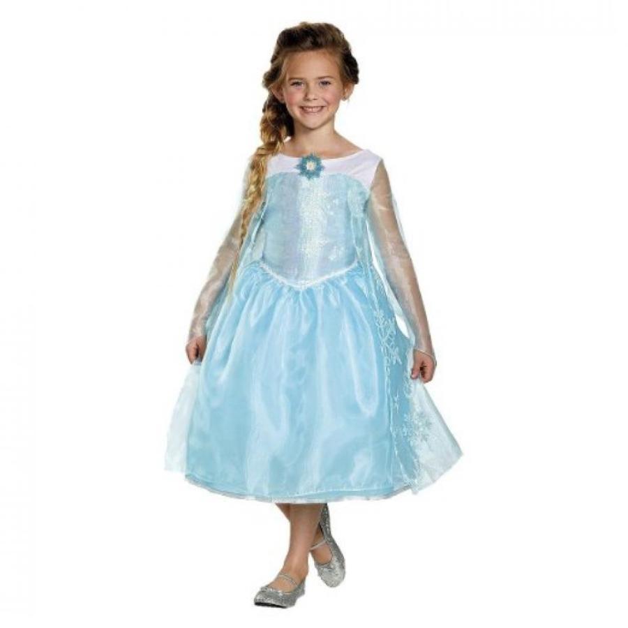 アナと雪の女王 おもちゃ フィギュア Girl's Frozen Elsa Sequin Deluxe Costume (M(7-8)) 輸入品