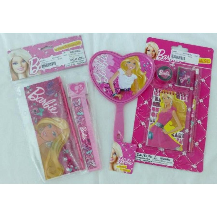 バービー人形 着せ替え おもちゃ Barbie Gift Set - Heart Shaped Mirror, 4pc Stationery Set, 4pk Study Set 輸入品