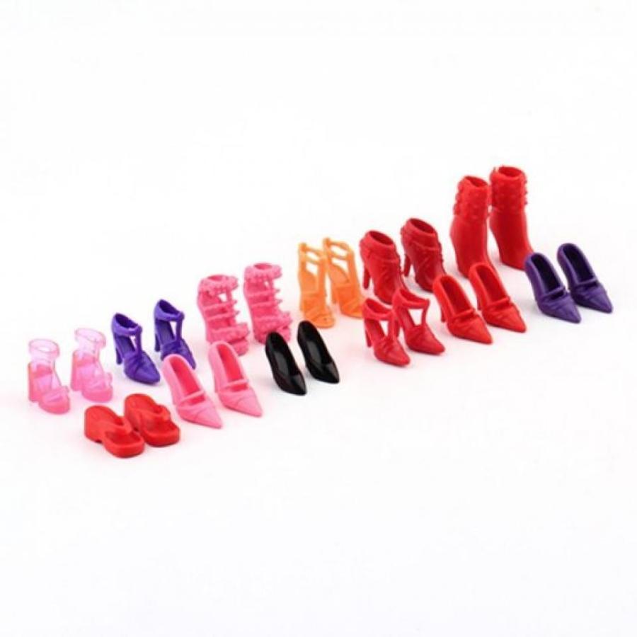 バービー人形 着せ替え おもちゃ Colorful Assorted for Barbie Doll Shoes Different Styles Fashion 12 Pairs Cute 輸入品