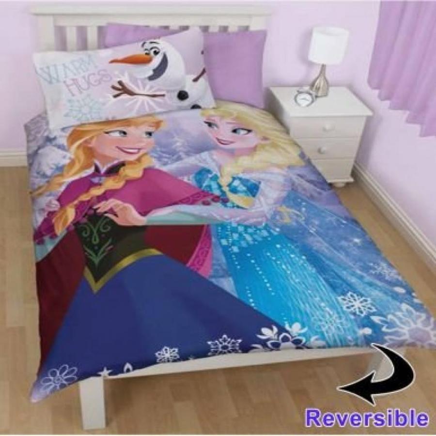 アナと雪の女王 おもちゃ フィギュア Disney Frozen Film Anna & Elsa Single Duvet Set 輸入品