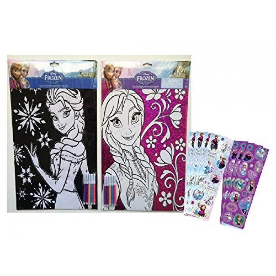 アナと雪の女王 おもちゃ フィギュア Disney Frozen Elsa & Anna Coloring Sheets with Markers S