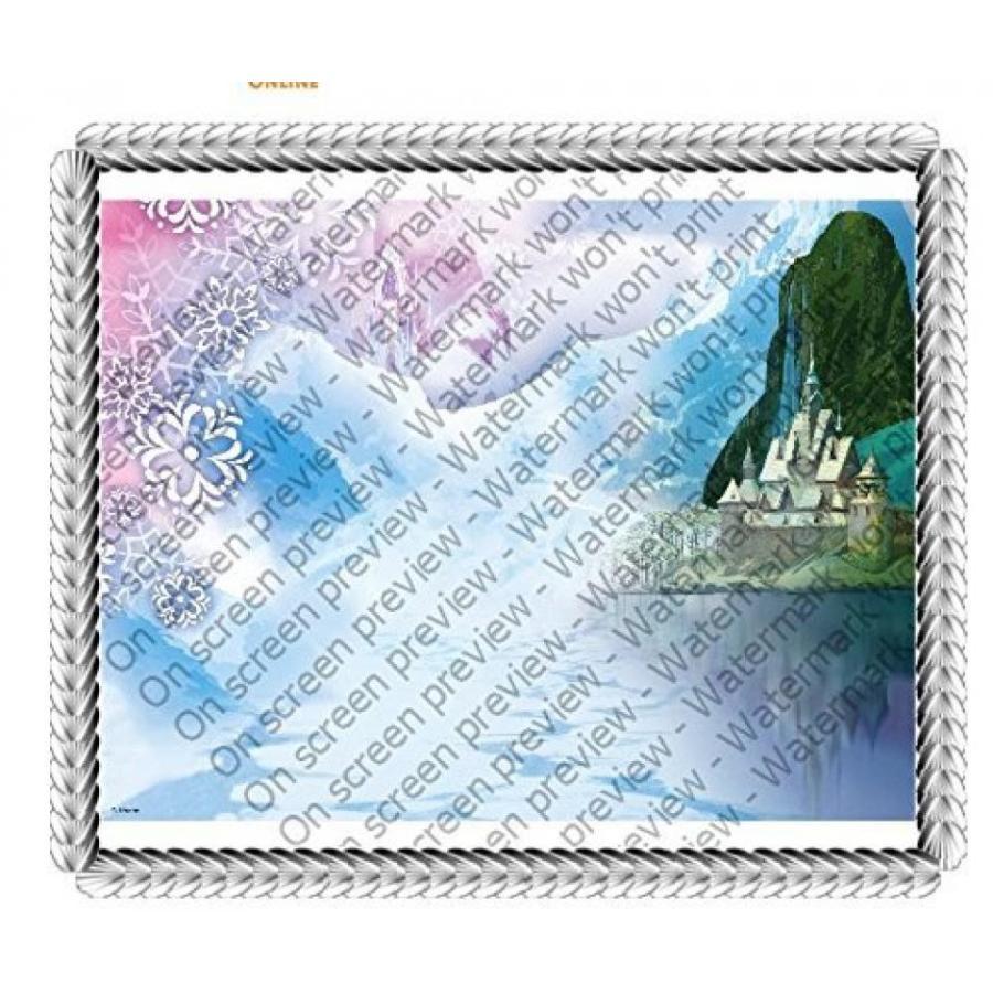アナと雪の女王 おもちゃ フィギュア 1/4 Sheet Disney's Frozen Background Edible Icing Image Cake Decoration Topper 輸入品