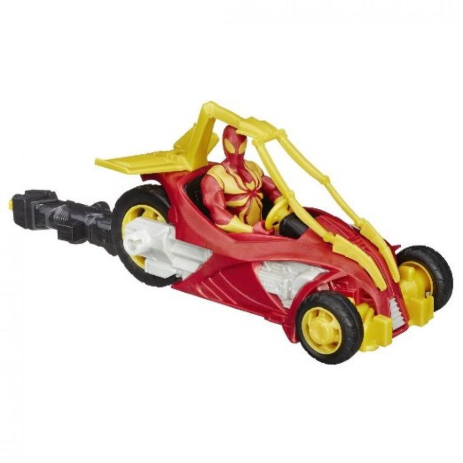アベンジャーズ おもちゃ フィギュア Marvel Ultimate Spider-Man Web Warriors Iron Spider Street Charger Vehicle 輸入品