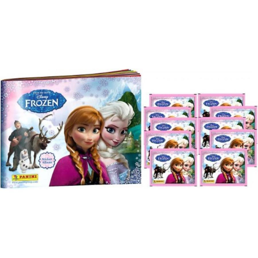 アナと雪の女王 おもちゃ フィギュア Disney Frozen Panini Sticker Album & 10 Packs 輸入品