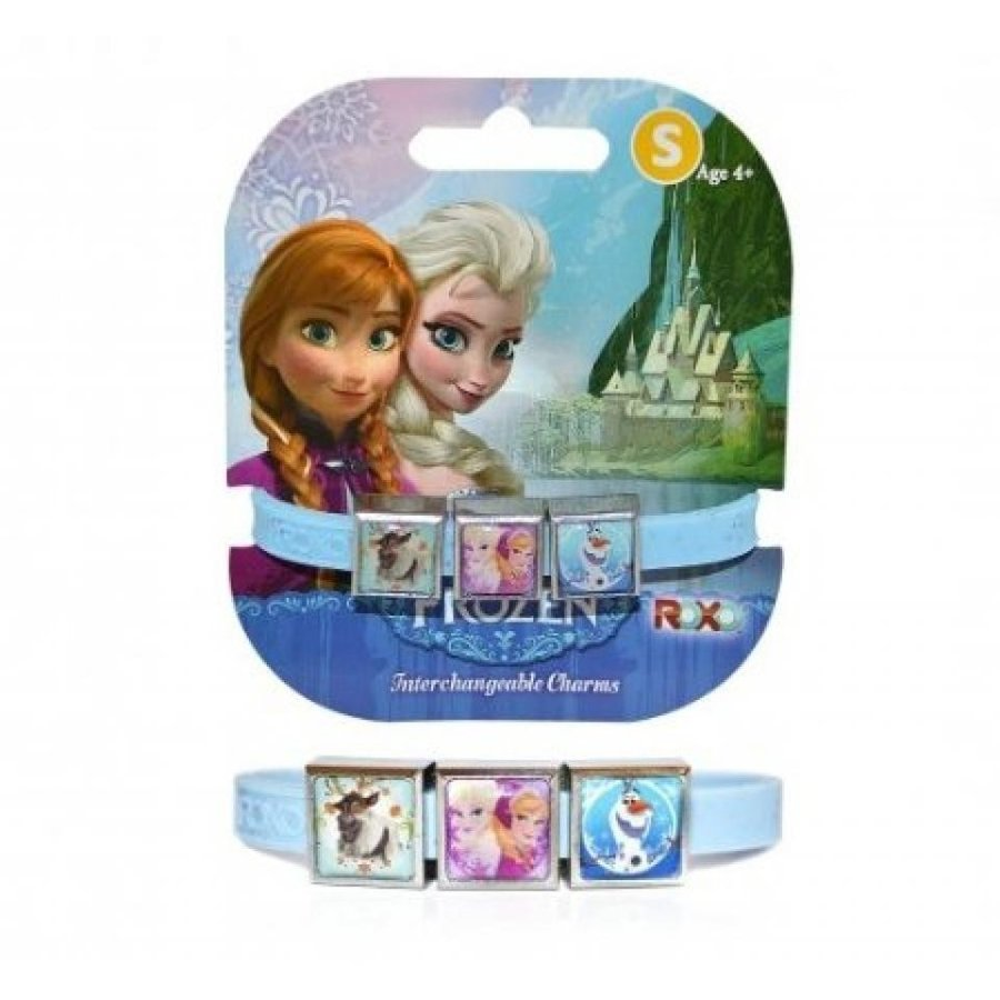 アナと雪の女王 おもちゃ フィギュア Disney Frozen '青 Glitter' Small 3 Charms Gummy Bands Girls Accessories 輸入品