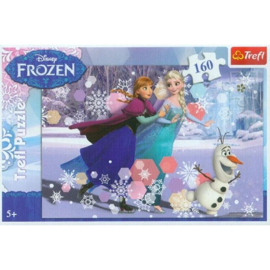 アナと雪の女王 おもちゃ フィギュア Disney Frozen, Skating, Puzzle/Jigsaw, 160 elements by Trefl 輸入品