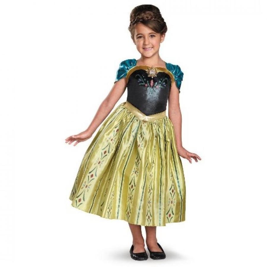 アナと雪の女王 おもちゃ フィギュア Disney Frozen Girls Halloween Costume - Anna Coronation Dress 輸入品