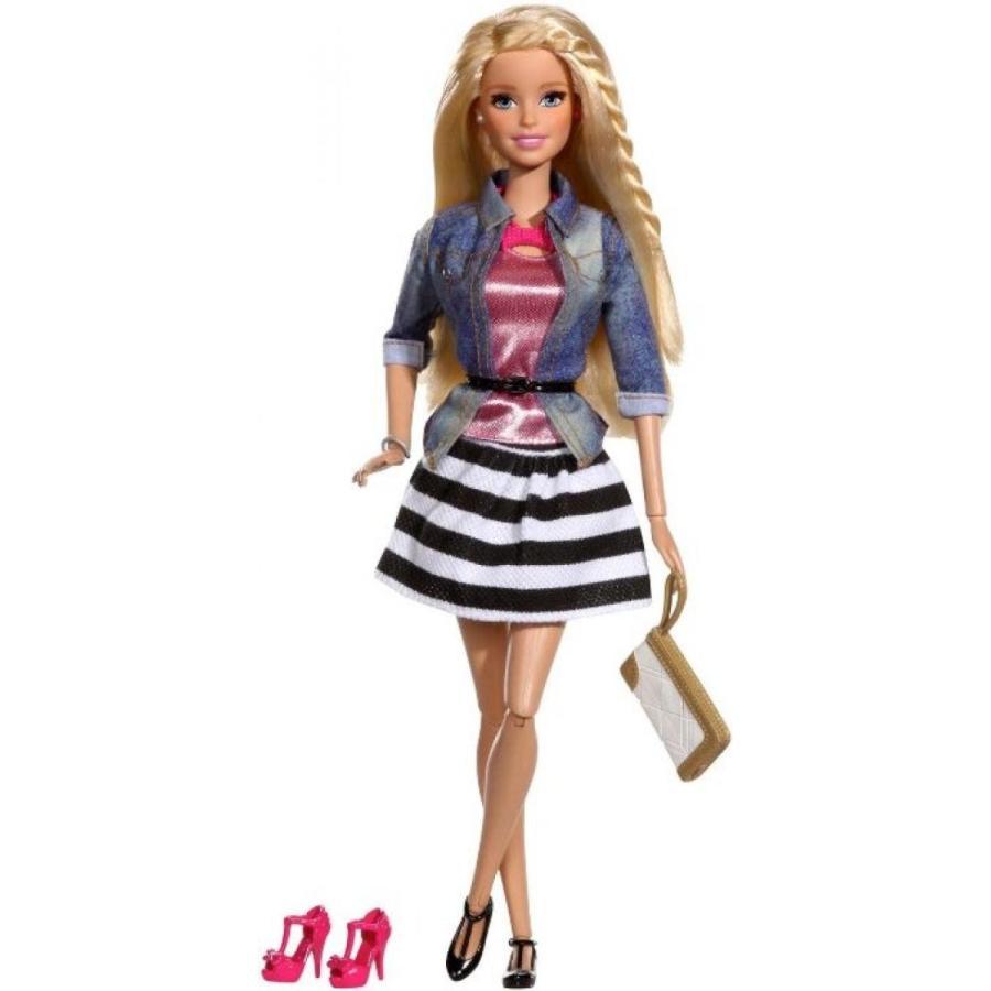 バービー人形 着せ替え おもちゃ Barbie Style Doll, Jean Jacket and 黒/白い Skirt 輸入品