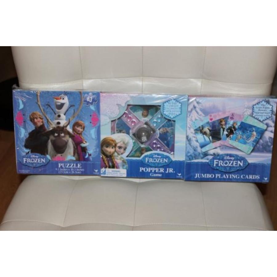 アナと雪の女王 おもちゃ フィギュア Disney Frozen 3 pack 63 pc. Puzzle, Popper Jr. Game and Jumbo Playing Cards 輸入品