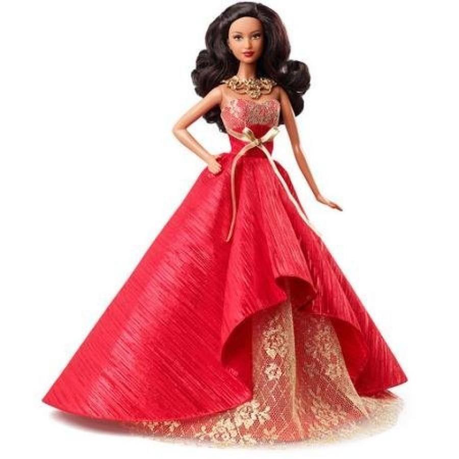 バービー人形 着せ替え おもちゃ Barbie 2014 Holiday Doll with Ornament, African American 輸入品