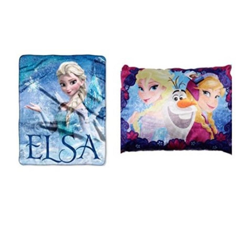 アナと雪の女王 おもちゃ フィギュア Disney Frozen Elsa Palace Plush Throw and Standard Plush Bed Pillow 輸入品