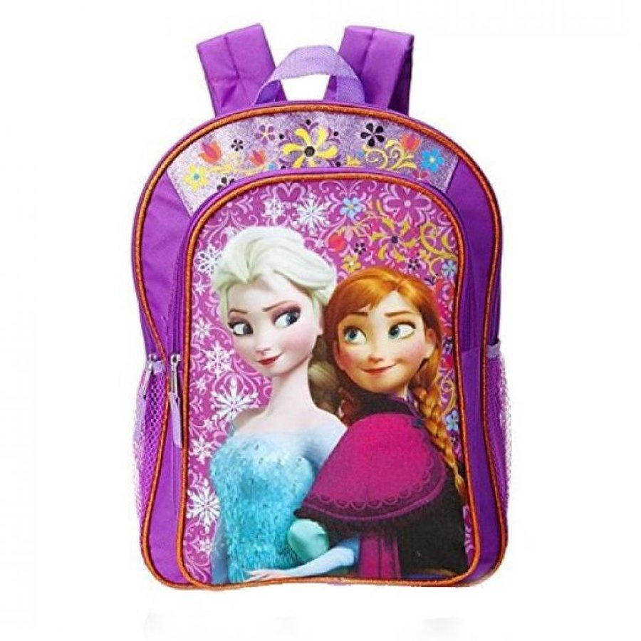 アナと雪の女王 おもちゃ フィギュア Disney Frozen Anna & Elsa Girl's Backpack 紫の with Amber Trim 輸入品