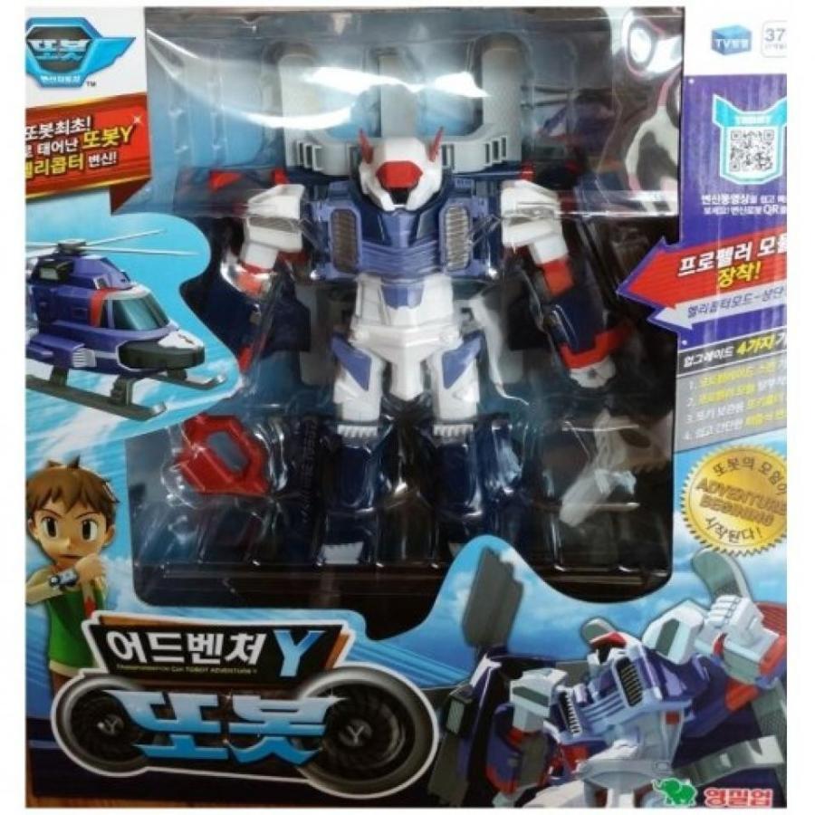 トランスフォーマー おもちゃ 変形 合体ロボ Tobot Adventure Y Transformer Helicopter Transforming Robot 輸入品