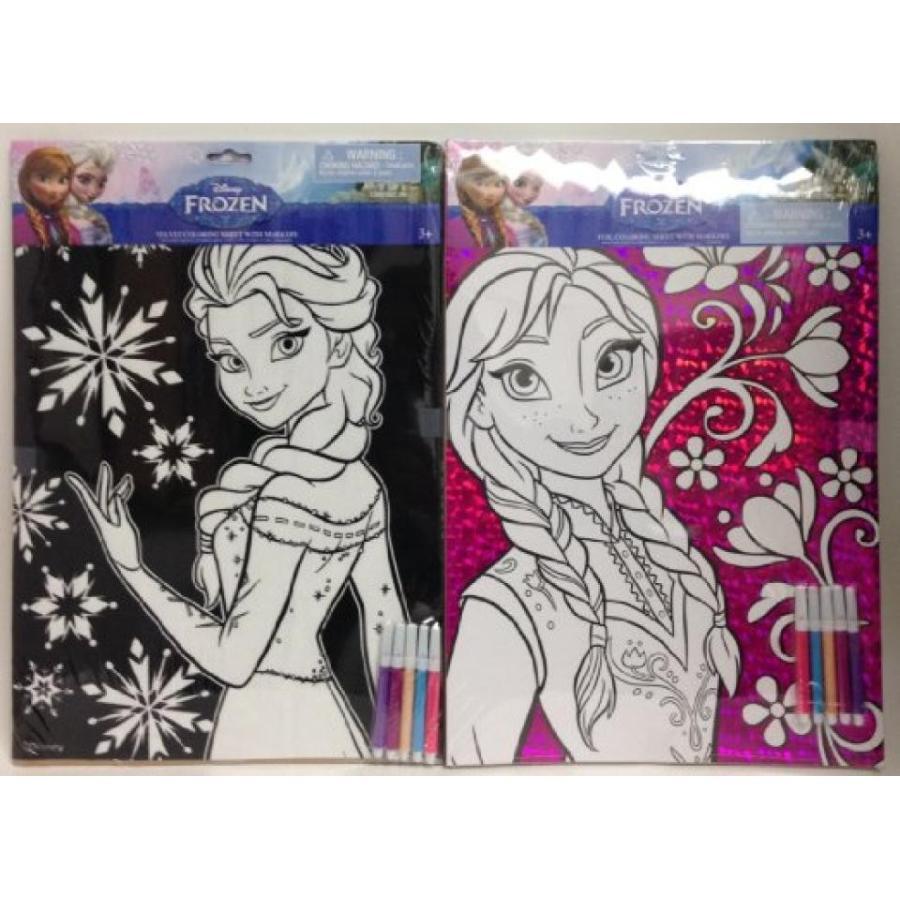 アナと雪の女王 おもちゃ フィギュア Disney Frozen Elsa & Anna Coloring Sheets, 2pk 輸入品