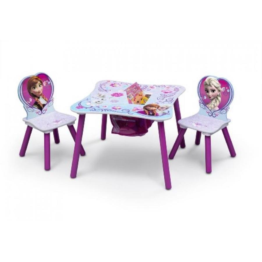 アナと雪の女王 おもちゃ フィギュア Delta Children Frozen Table and Chair Set with Storage, ピンク 輸入品