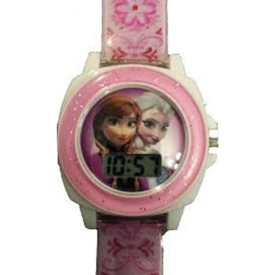 アナと雪の女王 おもちゃ フィギュア Disney Frozen Elsa Anna Digital LCD ピンク Floral Band Plays 'Let It Go' Song 輸入品