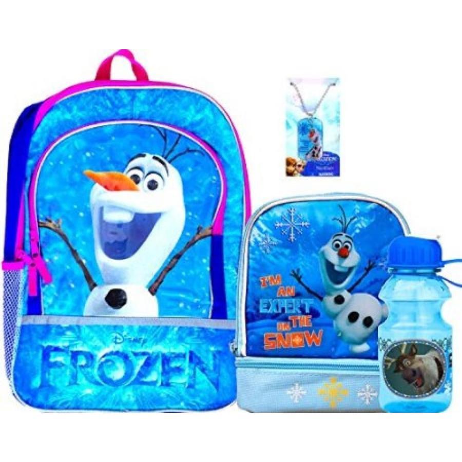 アナと雪の女王 おもちゃ フィギュア Disney Frozen Olaf Backpack with Olaf Carrier Lunch Box