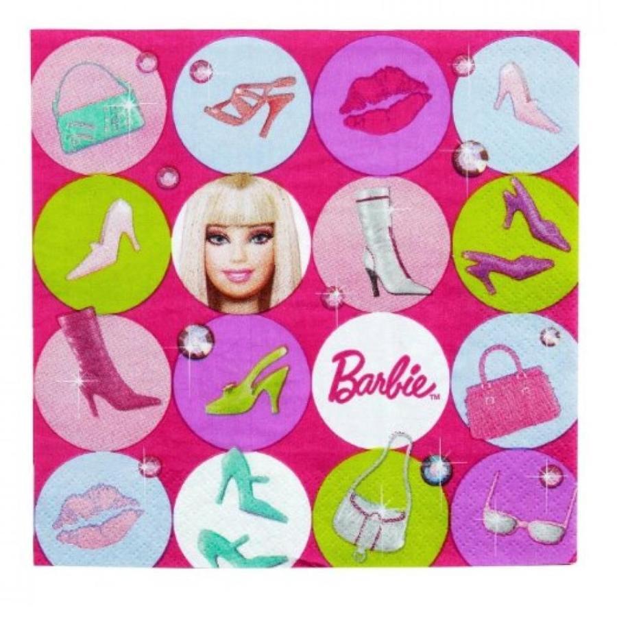 バービー人形 着せ替え おもちゃ 3 Each: Barbie All Dolled Up Luncheon Napkins (16 Ct) 輸入品