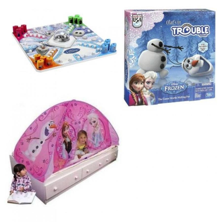 アナと雪の女王 おもちゃ フィギュア Disney Frozen Light up Tent & Olafs in Trouble Game 輸入品