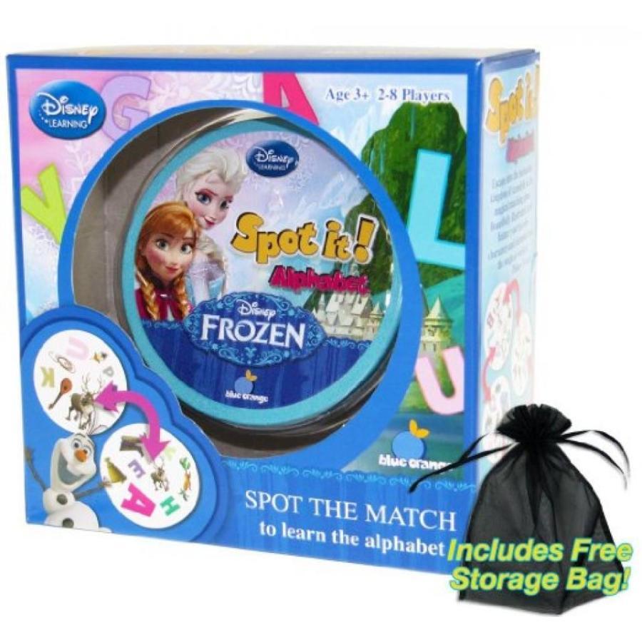 アナと雪の女王 おもちゃ フィギュア Spot It! Alphabet Disney Frozen Edition with Free Storage Bag 輸入品