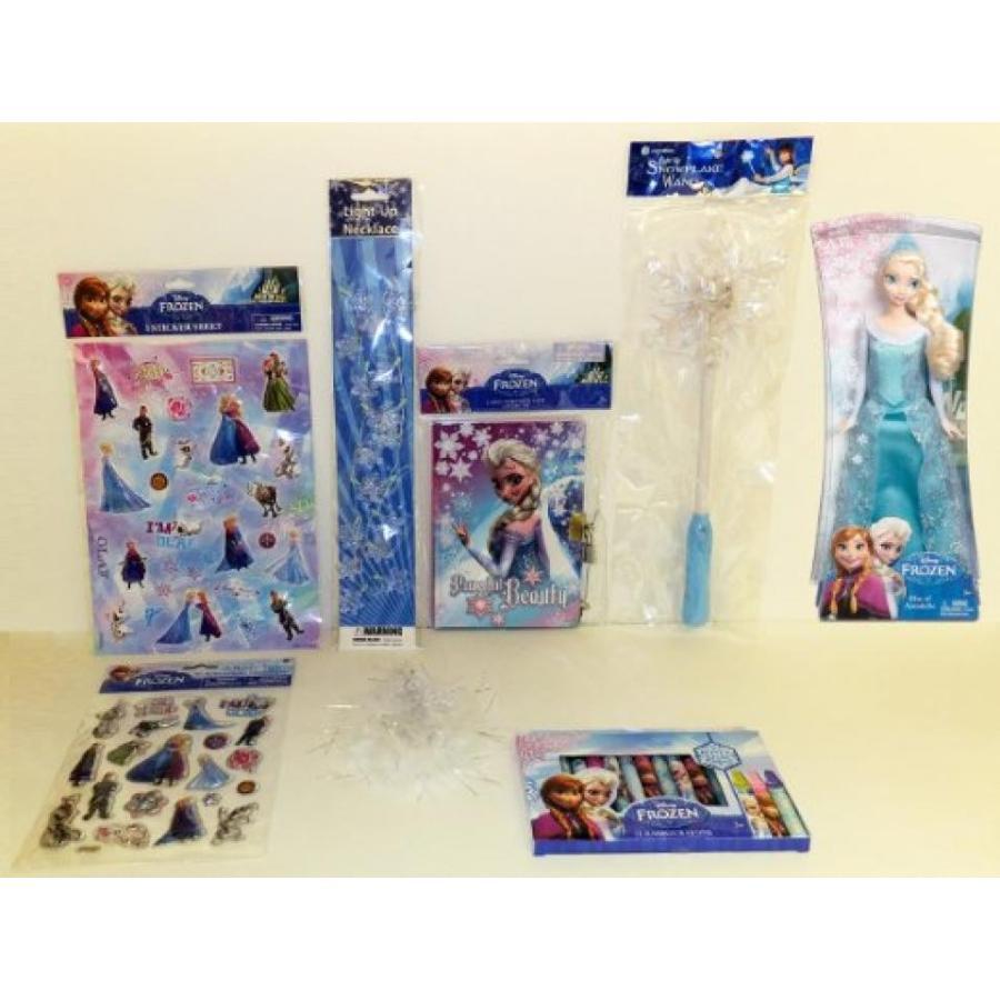 アナと雪の女王 おもちゃ フィギュア 8-Piece Disney Frozen Set: Elsa Sparkle Doll PLUS Frozen