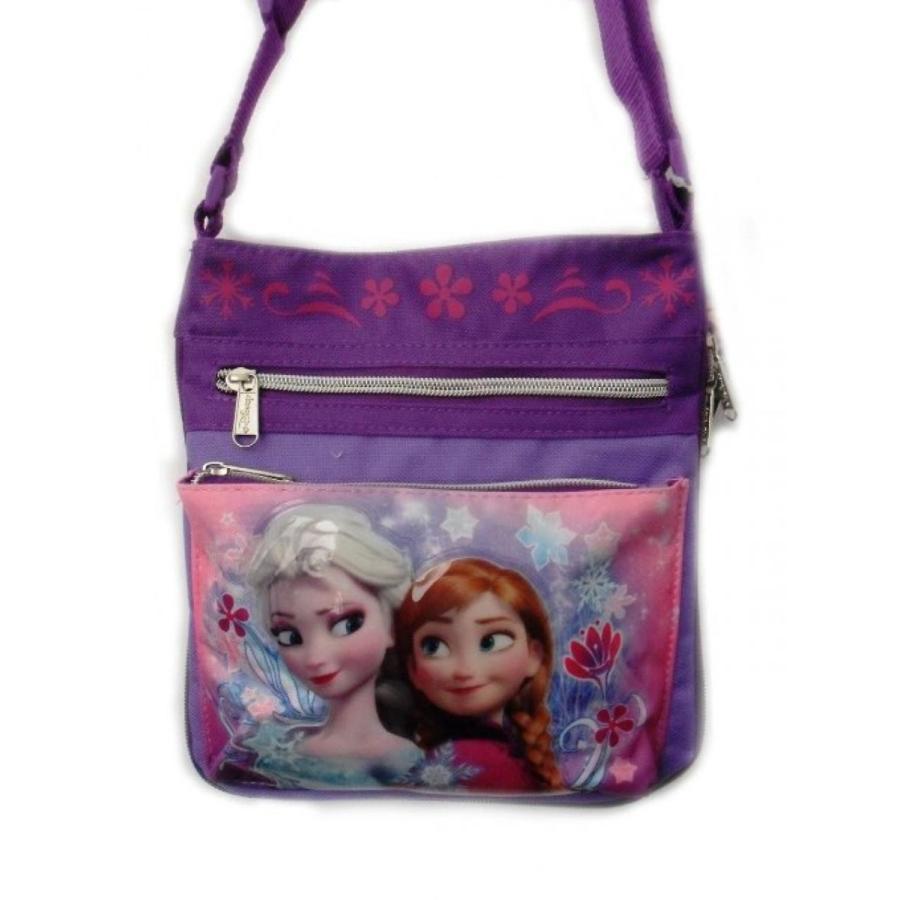 アナと雪の女王 おもちゃ フィギュア Disney Frozen Crossbody Bag- Anna and Elsa 紫の Girls Shoulder Bag 輸入品