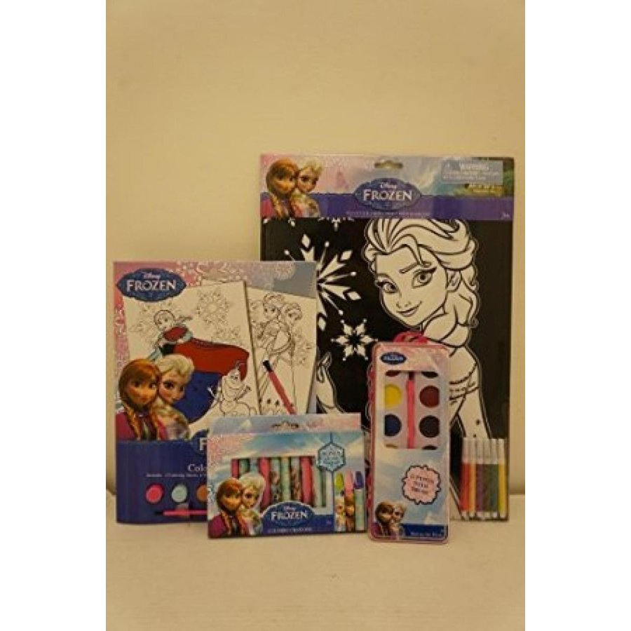アナと雪の女王 おもちゃ フィギュア Disney Frozen Children Activity Bundle 4pc: Jumbo Crayon