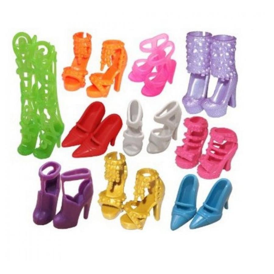 バービー人形 着せ替え おもちゃ G E M 10 Pairs of Doll Shoes, Fit Barbie Dolls (Exactly As in Photo) 輸入品