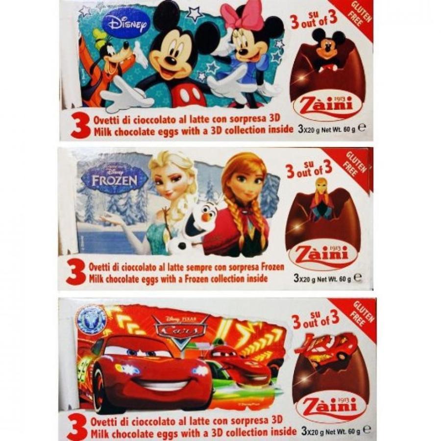 アナと雪の女王 おもちゃ フィギュア Disney Toy Surprise Chocolate Eggs, Mickey & Friends + Frozen + Cars (9 Eggs) 輸入品