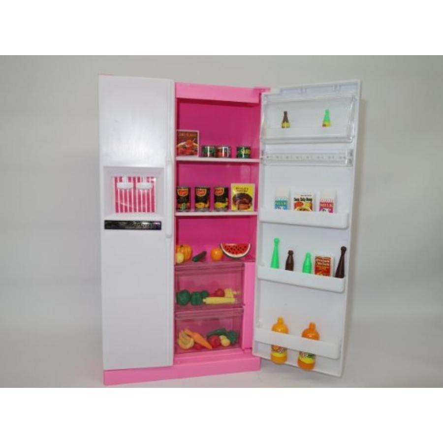 バービー人形 着せ替え おもちゃ Gloria Refrigerator & Food Acc. Play Set 輸入品