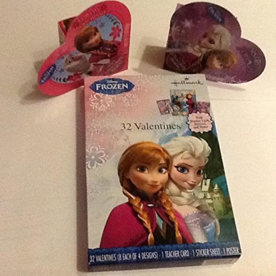 アナと雪の女王 おもちゃ フィギュア 32 Frozen Valentines Day Cards and Crisby Chocolate Hearts 輸入品