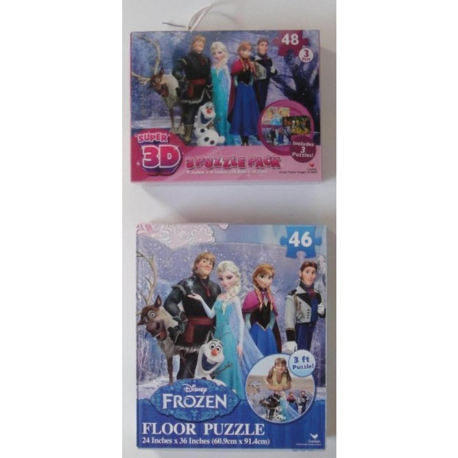 アナと雪の女王 おもちゃ フィギュア Disney Frozen 2 Piece Combo Puzzle Set 輸入品