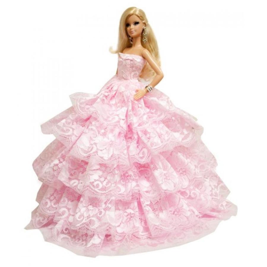 バービー人形 着せ替え おもちゃ Barbie Romantic Ball Gown Strapless Layers of Organza ピンク Dress 輸入品