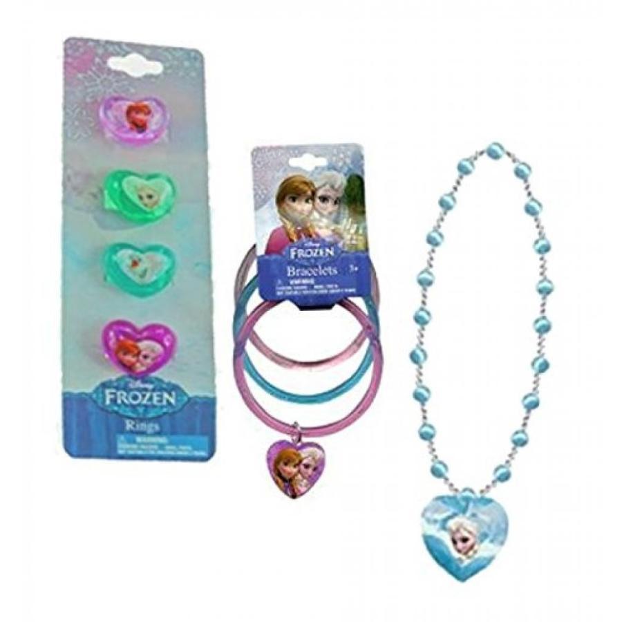 アナと雪の女王 おもちゃ フィギュア Disney Frozen 8pc. Girls Glitter Pretend Play Jewlery Ac