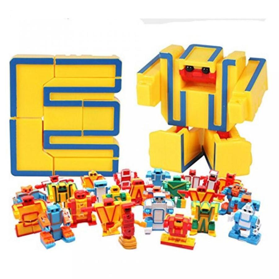 トランスフォーマー おもちゃ 変形 合体ロボ GIME 26 letters Transformers clan for childrens 輸入品