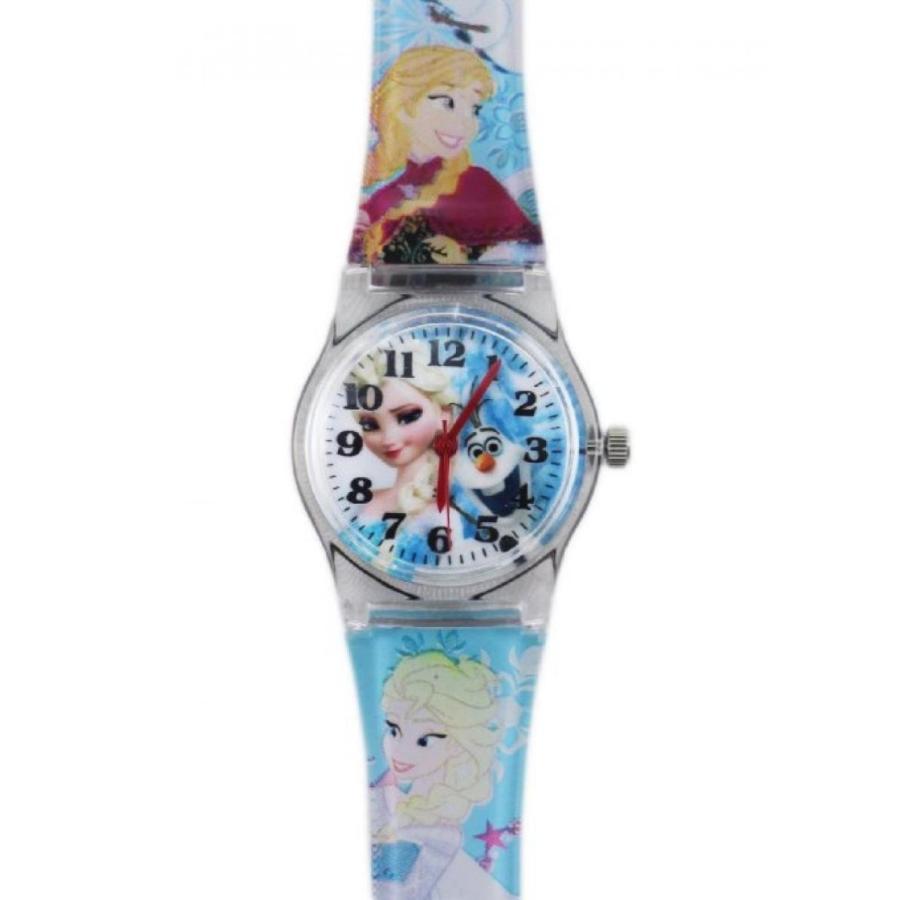 アナと雪の女王 おもちゃ フィギュア Disney's Frozen Light 青 Colo赤 Band Watch Featuring Anna Elsa and Olaf (25mm) 輸入品