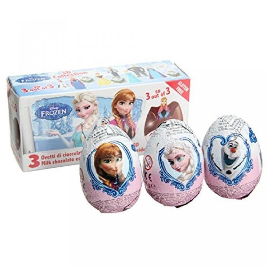 アナと雪の女王 おもちゃ フィギュア 3 Eggs - Disney Toy Surprise Chocolate Eggs, Frozen Figures Inside 輸入品