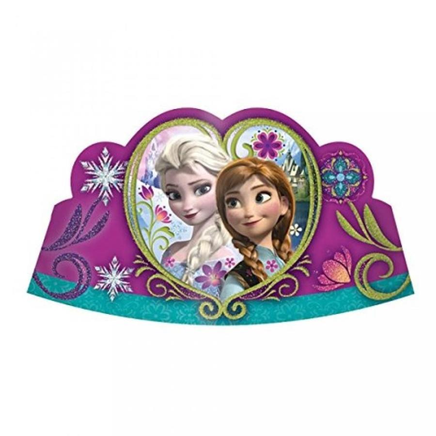 アナと雪の女王 おもちゃ フィギュア Disney Frozen Party Glitter Card Tiaras x 8 輸入品