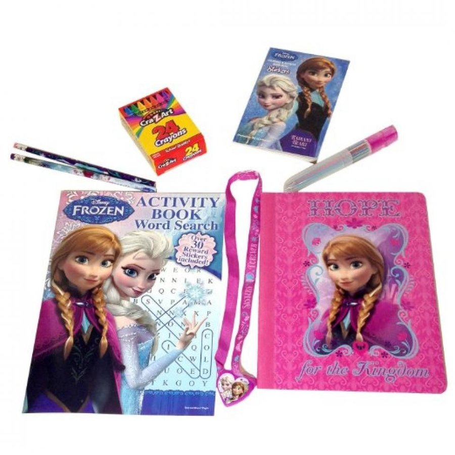 アナと雪の女王 おもちゃ フィギュア Frozen Notebook & Activity Book 8 Bundle Set 輸入品