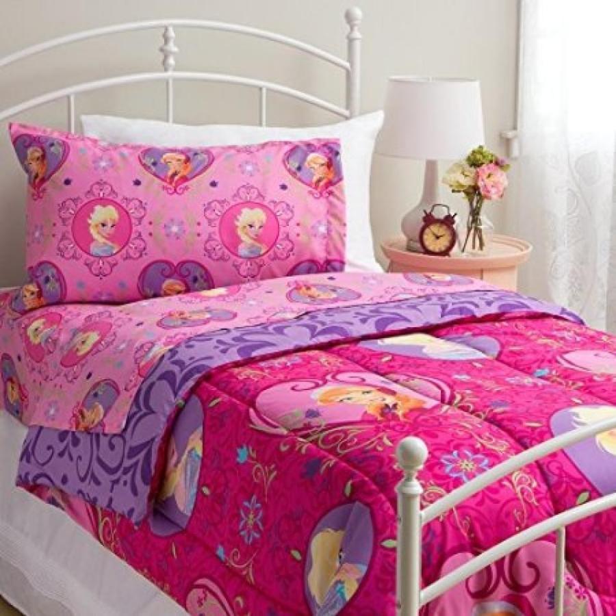 アナと雪の女王 おもちゃ フィギュア Disney Frozen Twin Size Complete Bedding Set Wth Comfort
