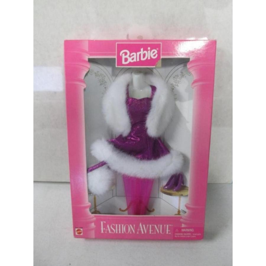 バービー人形 おもちゃ 着せ替え Mattel Barbie Fashion Avenue 紫の Dress With Fur 輸入品