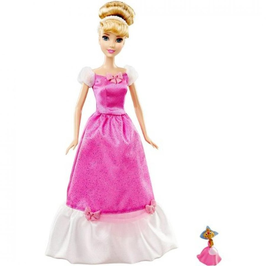 アナと雪の女王 おもちゃ フィギュア Cinderella Doll and Suzy Mouse ピンク Exclusive Disney Pri