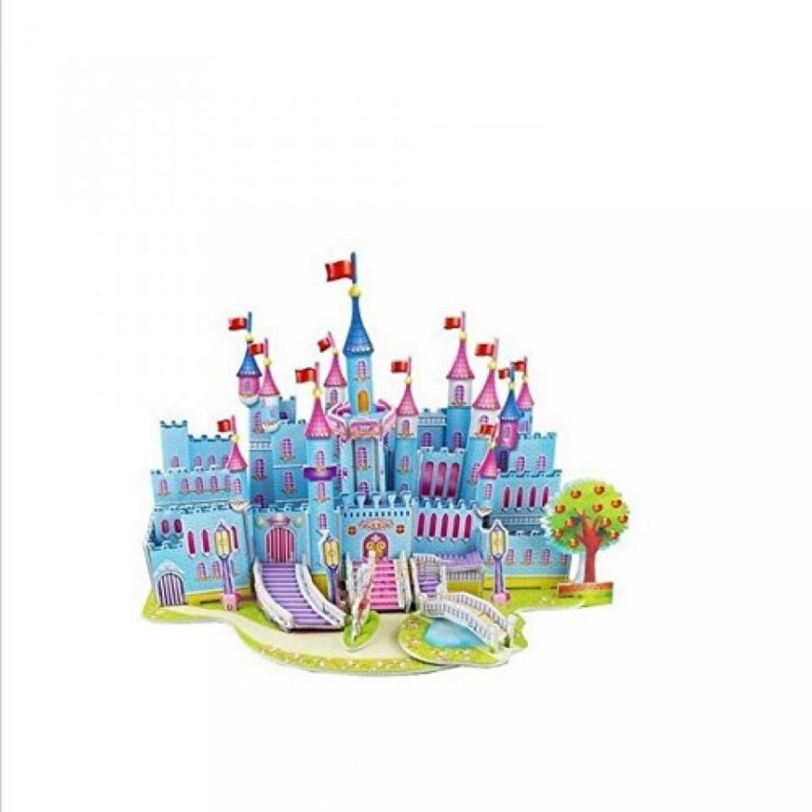 アナと雪の女王 おもちゃ フィギュア 3d Puzzles Kids Educational Toys DIY Jigsaw for Children Adults 青 Castle 輸入品