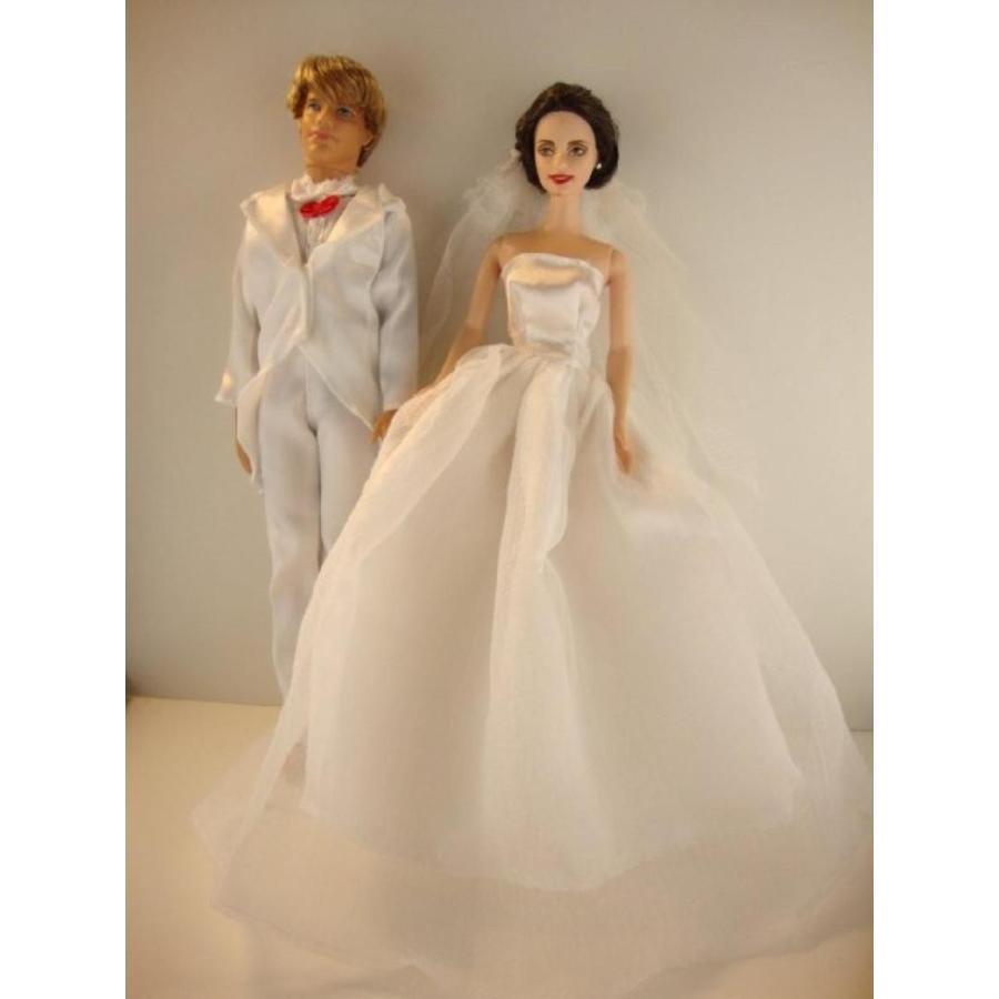 バービー人形 着せ替え おもちゃ An All 白い Wedding Set a 白い Wedding Gown and a 白い