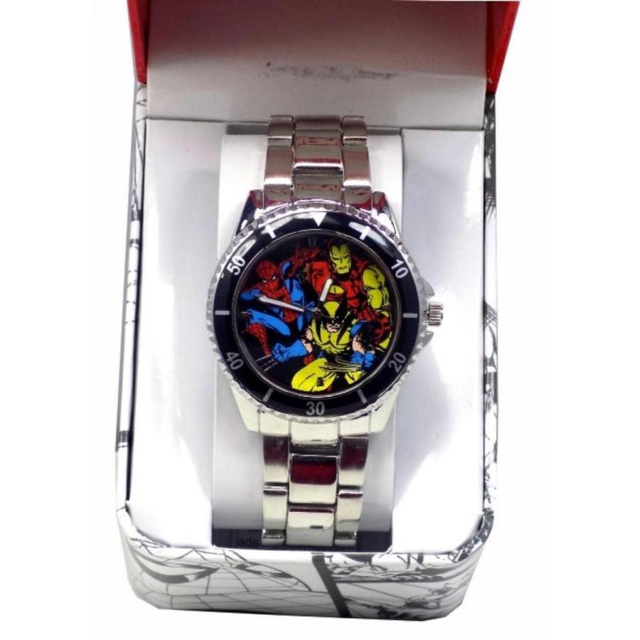 アベンジャーズ おもちゃ フィギュア Marvel Avengers Analog Stainless Steel Watch 輸入品
